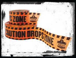 Drop Zone Tape warns workers of potential falling objects.