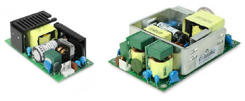 AC-DC Power Supplies include 100, 120 and 150 W models.