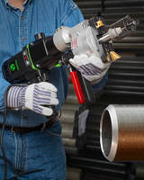 Electric Pipe Beveling Tool end preps where air isn't available.