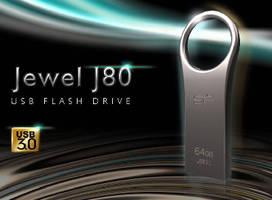 USB 3.0 Flash Drive features zinc alloy unibody design.