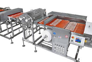 Packaging System handles frozen breakfast sausage patties.