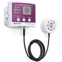 Wireless Data Logger monitors CO2, temperature, and humidity.