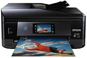 Compact All-In-One Printer produces professional-quality photos.