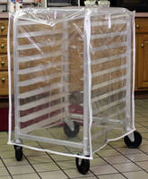 Protective Covers fit half size bakery racks.