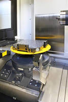 High-Speed 4-Axis HMC has table with 1° indexing at 16.6 rpm.