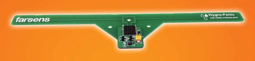 Battery-Free RFID Sensor Tag measures temperature and RH.