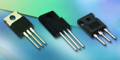 MOSFETs (500 V) offer low conduction and switching losses.