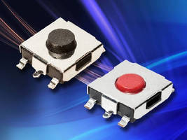 Top Actuated Tactile Switches feature optional ground pin.
