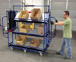 Ergonomic Picking Cart can be used in narrow aisle warehouses.