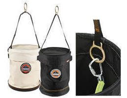 Hoist Buckets include anchoring D-ring on top handle.