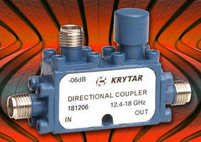 Compact Directional Coupler operates over 12.4-18.0 GHz range.