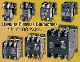 Definite Purpose Contactors are offered with ratings up 90 A.