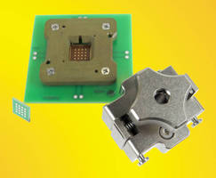 QFN IC Socket connects all pins with 40 GHz bandwidth.