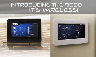 Graphic Touchscreen Keypad features wireless design.