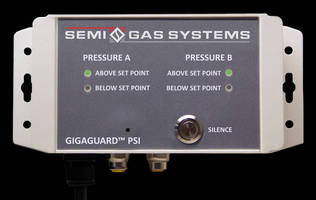 Pressure Controller monitors gas supply pressure.