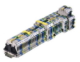 DIN Rail Terminal Blocks feature push-in jumpers.