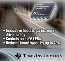 LED Matrix Manager targets adaptive automotive headlight systems.