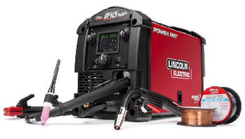 Multi-Process Welder offers dual input voltage options.