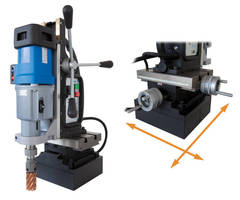 Portable Magnetic Drill features multi-axis positioning.