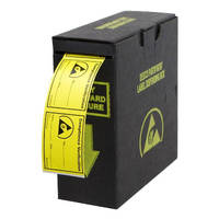 Label Dispenser features static dissipative design.