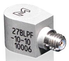High-Temp IEPE Accelerometer integrates 2-pole, low-pass filter.
