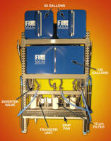 Lubricant Storage/Dispensing System features 130 gal container.