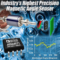 Magnetic Angle Sensor measures motor position. .