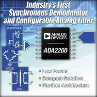 Synchronous Demodulator includes configurable analog filter.