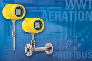 ST100 Aeration Flow Meter with Profibus Bus PA Simplifies Wastewater Plant Upgrade Process