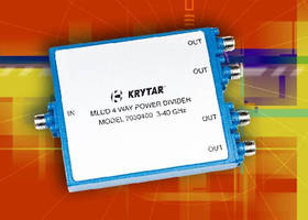 Power Divider covers frequency range of 3.0-40.0 GHz.