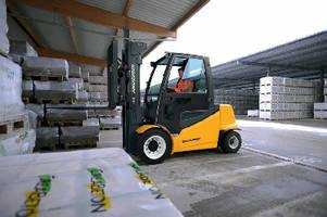 Electric Lift Trucks provide 7,000 lb capacity.