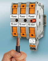 Finger-Safe Push-In Terminal Blocks support wires up to 4/0 AWG.
