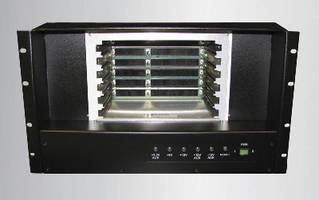 Rack Mount Chassis supports 10.3 Gbaud data transfers.
