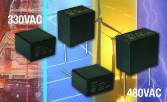 Film Capacitors are designed for X1 EMI suppression.