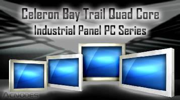Industrial Panel PCs feature Celeron 1.83 GHz quad-core CPU.