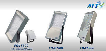 LED Floodlights offer extended lifespan at up to 500 W.