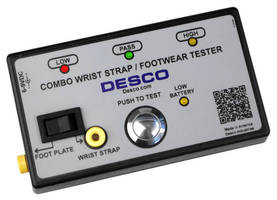 Wrist Strap/Footwear Tester verifies ESD compliance and safety.