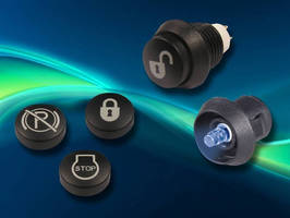 C&K Components Adds Customizable Graphics to Backlit Caps on Illuminated Industrial Pushbutton Switch Series