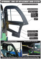 XUV Doors for John Deere Gator increase safety on tough terrain.