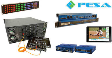 PESA Demos New Streaming App, 4K Routing Options at CCW 2014