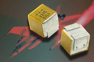Solid Tantalum Chip Capacitors feature hermetic sealing.