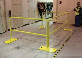 Guardrail provides passive fall protection.