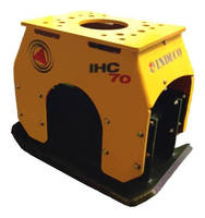 Boom-Mounted Compactor operates in tight trench applications.