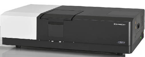 Spectrophotometer offers wavelength range of 185-3,300 nm.