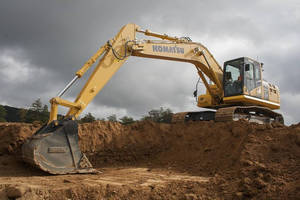 Hydraulic Excavator incorporates intelligent machine control.
