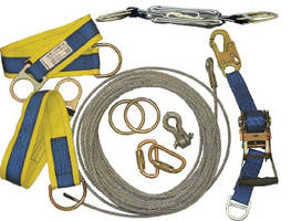 Temporary Lifeline Kits can be set up by one person.
