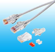 RJ45 Plugs target patch cables in data center applications.