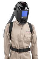 Auto-Darkening Welding Helmet integrates air purifying respirator.