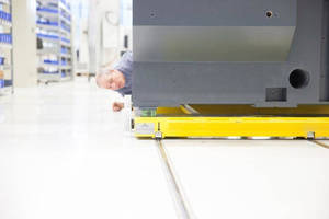 Production Flow on RoundTracks: STROTHMANN Implement Assembly Line for Haas Grinding Machines