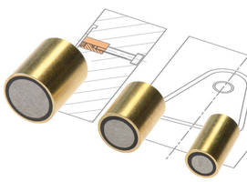 Permanent Magnets hold metal inserts in place.